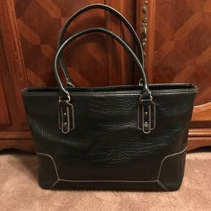 Leather big hand purse